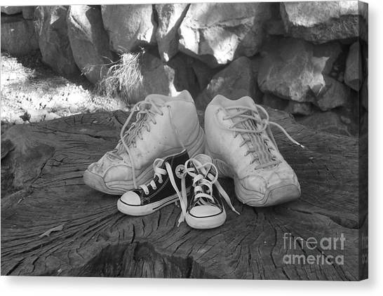 Walking In My Shoes Canvas Print