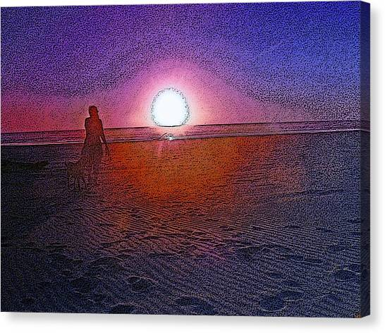 Walking In The Glow Canvas Print