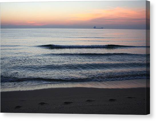 Canvas Print featuring the photograph Walking On Shore by Eric Christopher Jackson