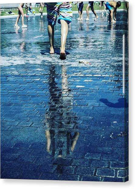 Canvas Print - Walking On The Water by Nerea Berdonces Albareda