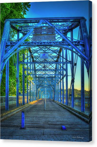 Walking Tall Walnut Street Pedestrian Bridge Art Chattanooga Tennessee Canvas Print