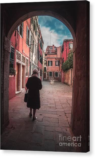 Walking Through Time - Venice, Italy Canvas Print