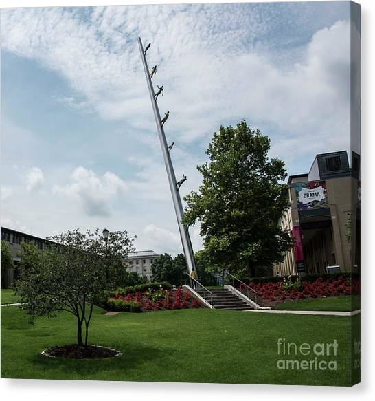 Carnegie Mellon University Canvas Print - Walking To The Sky - 2 by David Bearden