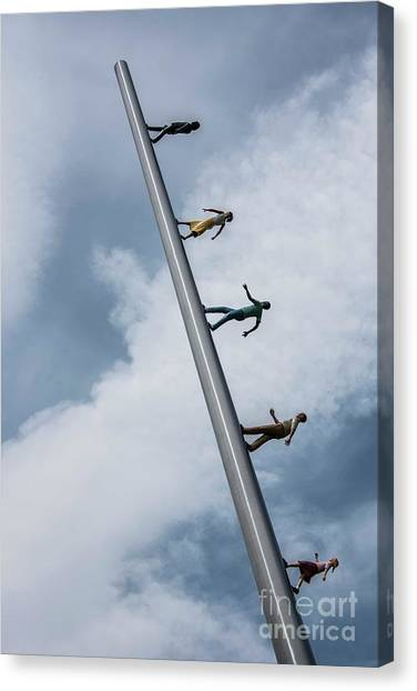 Carnegie Mellon University Canvas Print - Walking To The Sky - 4 by David Bearden
