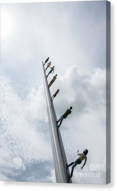 Carnegie Mellon University Canvas Print - Walking To The Sky - 5 by David Bearden