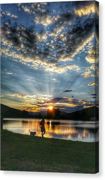Walking With My Best Friend Canvas Print