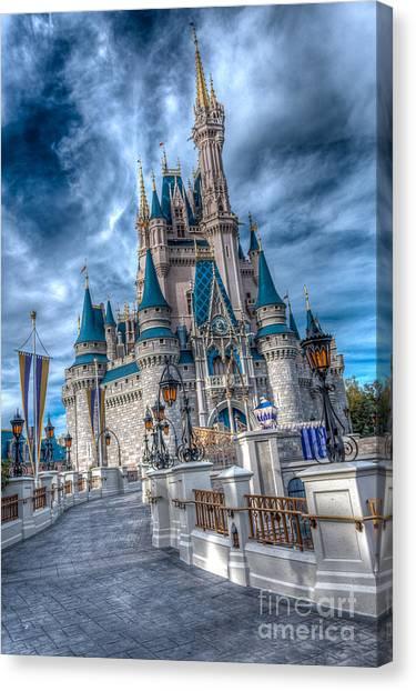 Walkway To Cinderellas Castle Canvas Print