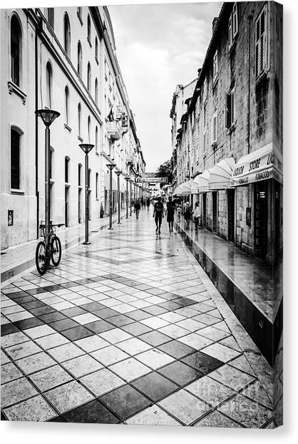 Walkways In Split, Croatia Canvas Print by JMerrickMedia