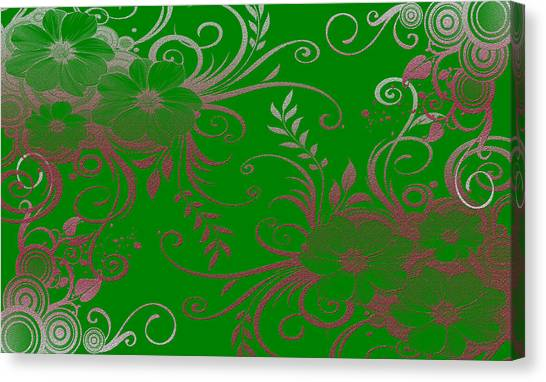 Wall Flower 2 Canvas Print by Evelyn Patrick
