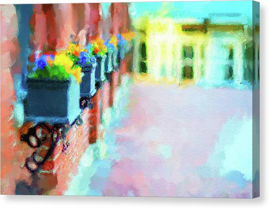 Wall Flower On The Mills In Amesbury Ma Canvas Print