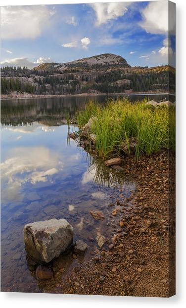Rockies Canvas Print - Wall Lake by Chad Dutson