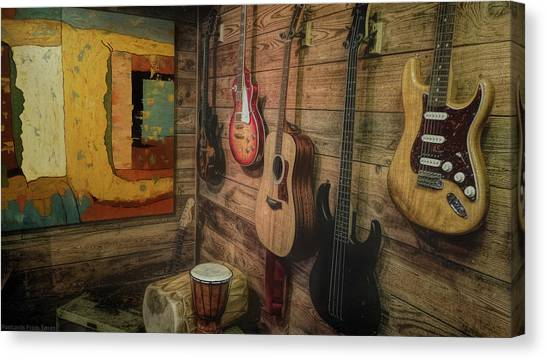 Wall Of Art And Sound Canvas Print