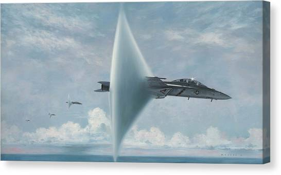 Hornet Canvas Print - Wall Of Sound Redcocks Style by Wade Meyers