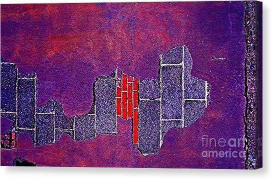 Wall Of Violet Textures Canvas Print