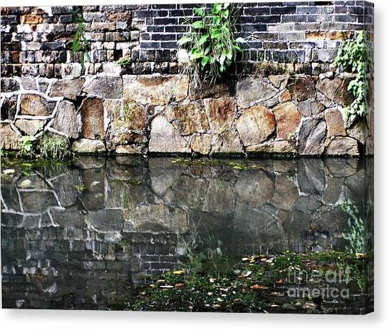 Wall Reflection Canvas Print by Kathy Daxon