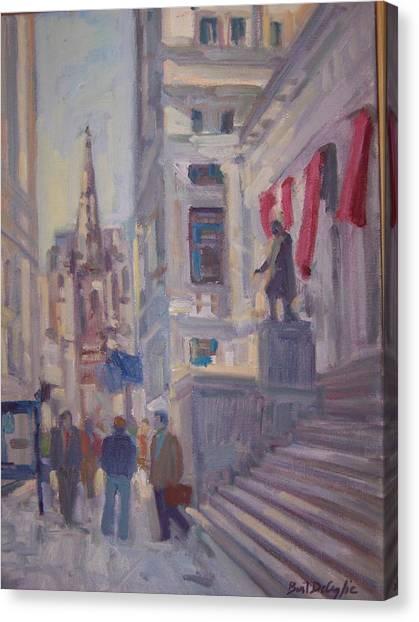 Wall St. Canvas Print