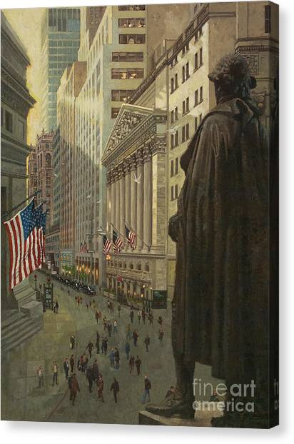 Stock Market Canvas Print - Wall Street 1 by Gary Kim