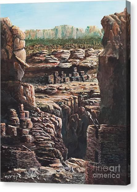Walnut Canyon Canvas Print by John Wise