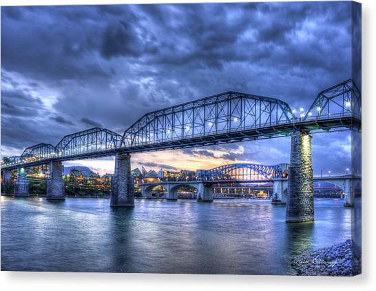 Walnut Street Pedestrian Bridge Chattanooga Tennessee Canvas Print