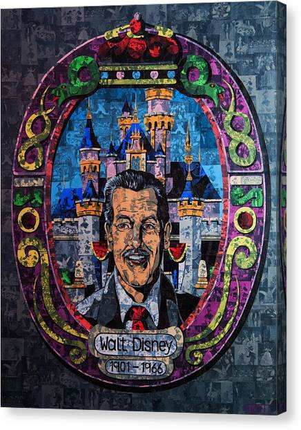 Shirley Temple Canvas Print - Walt Disney by Brent Andrew Doty