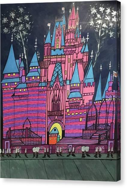 Walt Disney World Cinderrela Castle Canvas Print