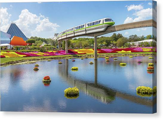 Walt Disney World Epcot Flower Festival Canvas Print