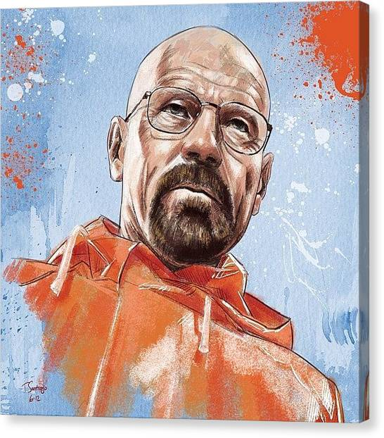White Canvas Print - Walter White by Tony Santiago