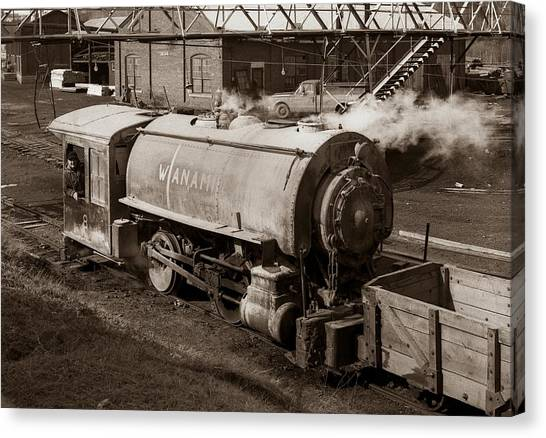 Wanamie Pennsylvania Coal Mine Locomotive Lokey 1969... Canvas Print