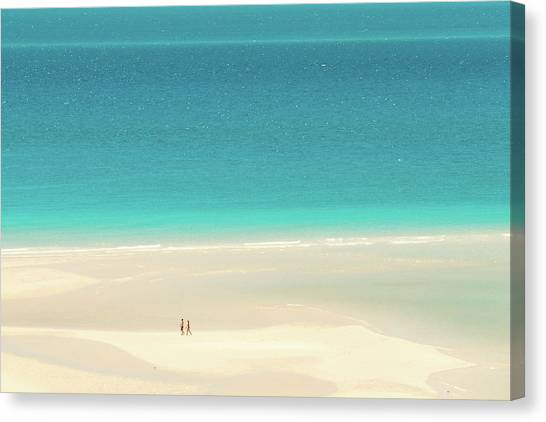 White Sand Canvas Print - Wanderlust by Az Jackson
