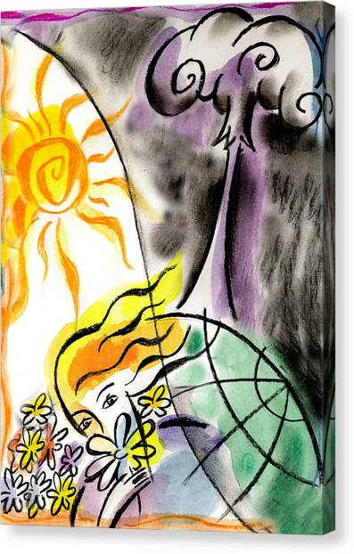 Climate Change Canvas Print - War And Peace by Leon Zernitsky