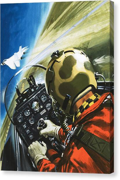 Cockpits Canvas Print - War In The Air by Wilf Hardy