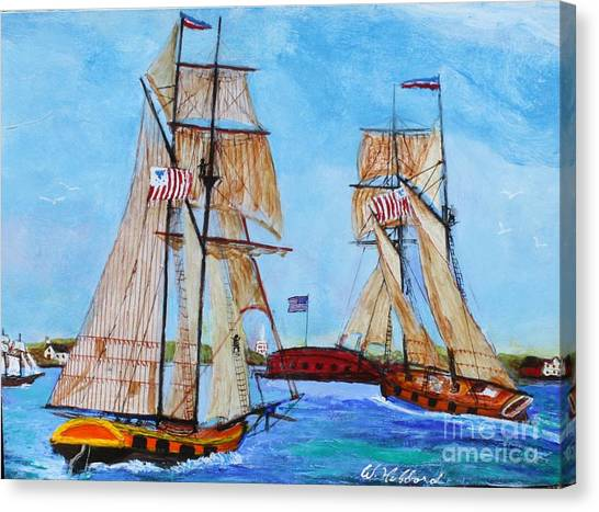 War Of 1812 In S.carolina Canvas Print