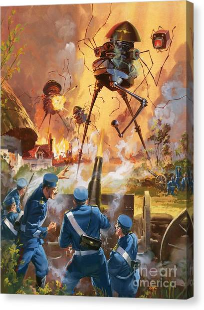 Droid Canvas Print - War Of The Worlds by Barrie Linklater