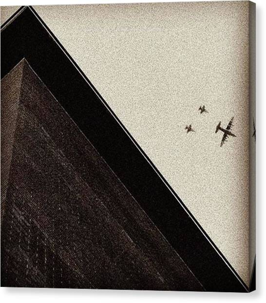 Madrid Canvas Print - War Planes #plane #sky #fly #aircraft by Rafa Rivas