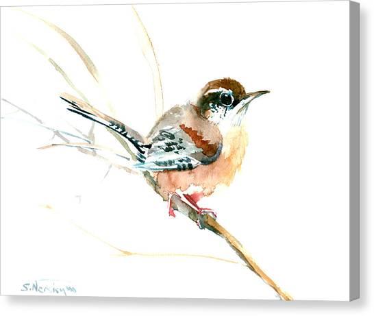 Warbler Songbird Art  Canvas Print