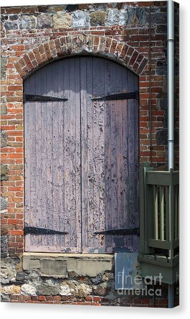 Warehouse Wooden Door Canvas Print