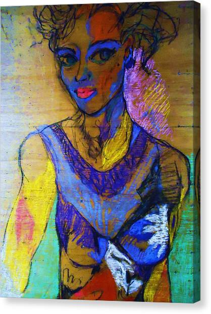 Warhol Simone Canvas Print