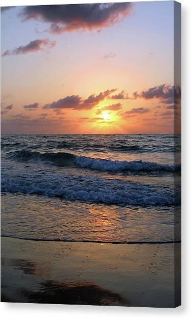 Warm Atlantic Sunrise Canvas Print