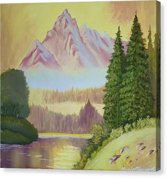 Warm Mountain Canvas Print