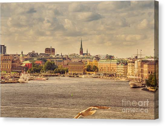 Warm Stockholm View Canvas Print