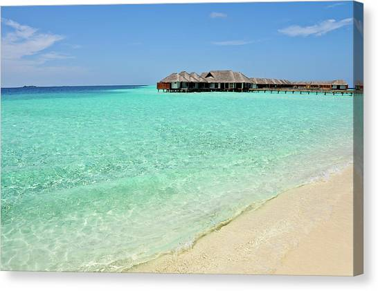 Warm Welcoming. Maldives Canvas Print