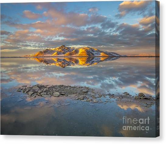 Warm Winter Sunset Canvas Print