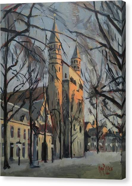 Canvas Print - Warm Winterlight Olv Plein by Nop Briex