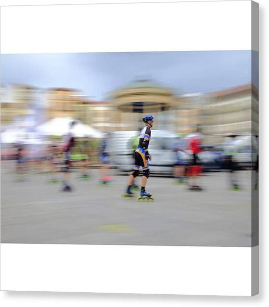 Art Movements Canvas Print - Warming Up For The International by Marcelo Valente