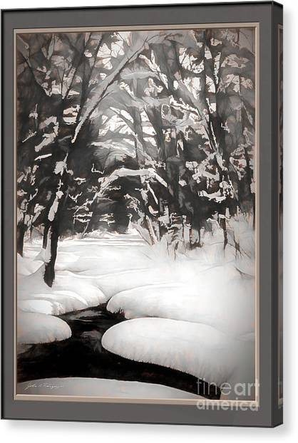 Warmth Of A Winter Day Canvas Print