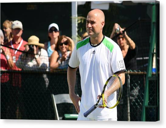 Andre Agassi Canvas Print - Warmup by Annie Babineau
