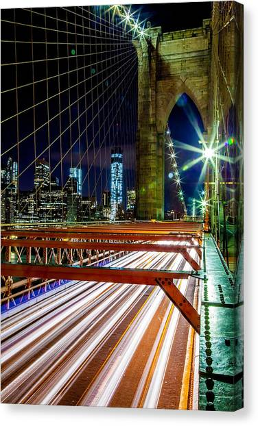 Big East Canvas Print - Warp Speed Out Of Manhattan by Az Jackson