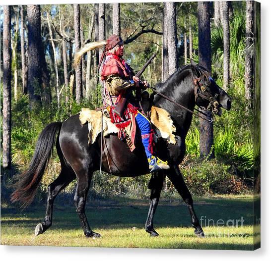 War Horse Canvas Print - Warpath by David Lee Thompson