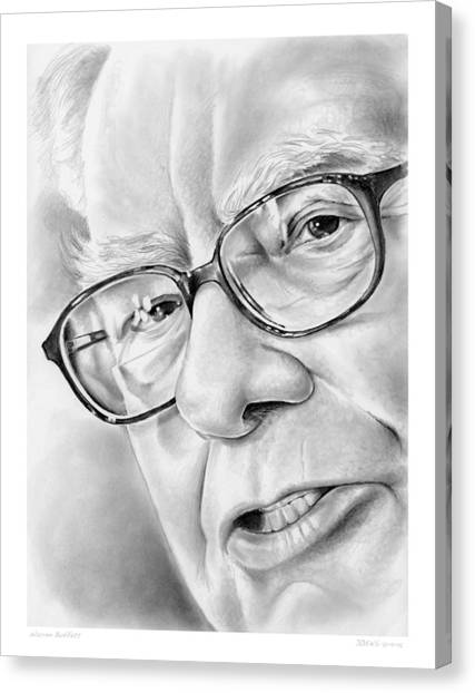 Wizard Canvas Print - Warren Buffett by Greg Joens