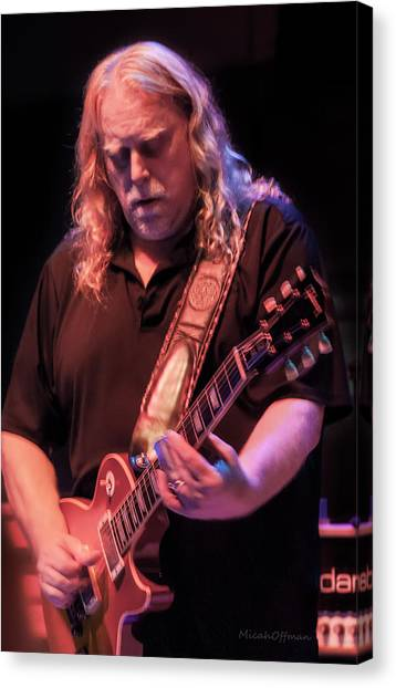 The Allman Brothers Band Canvas Print - Warren Haynes - Oct 2017 by Micah Offman